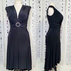 Bisou Bisou Black Evening Fit & Flare Dress 8